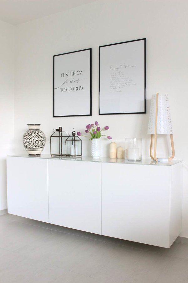 sideboard im wohnzimmer einrichten und wohnen. Black Bedroom Furniture Sets. Home Design Ideas