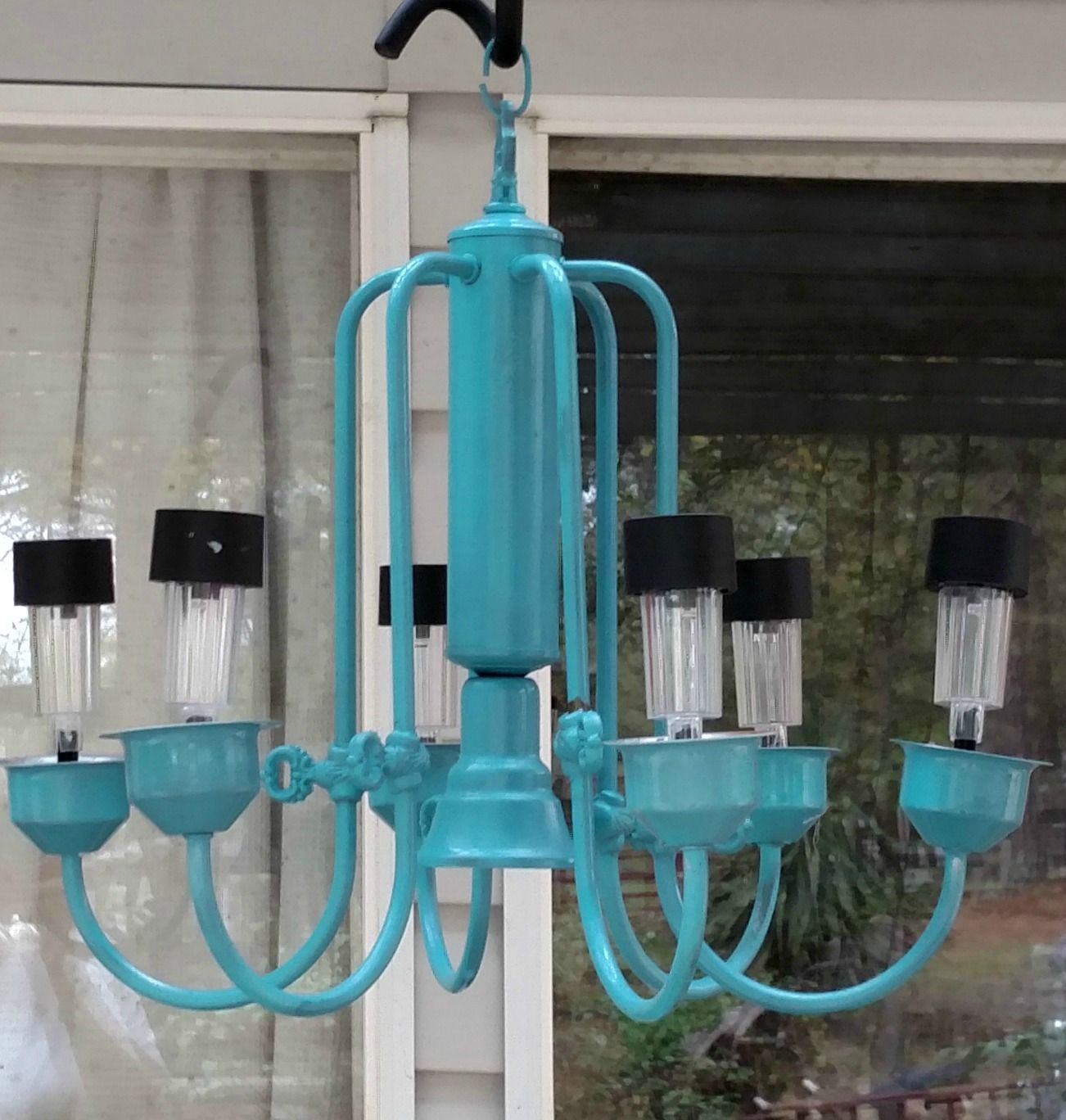 Red Tin Inn Out Door Lighting Solar Power Chandelier Outdoor Chandelier Solar Lights Lighting