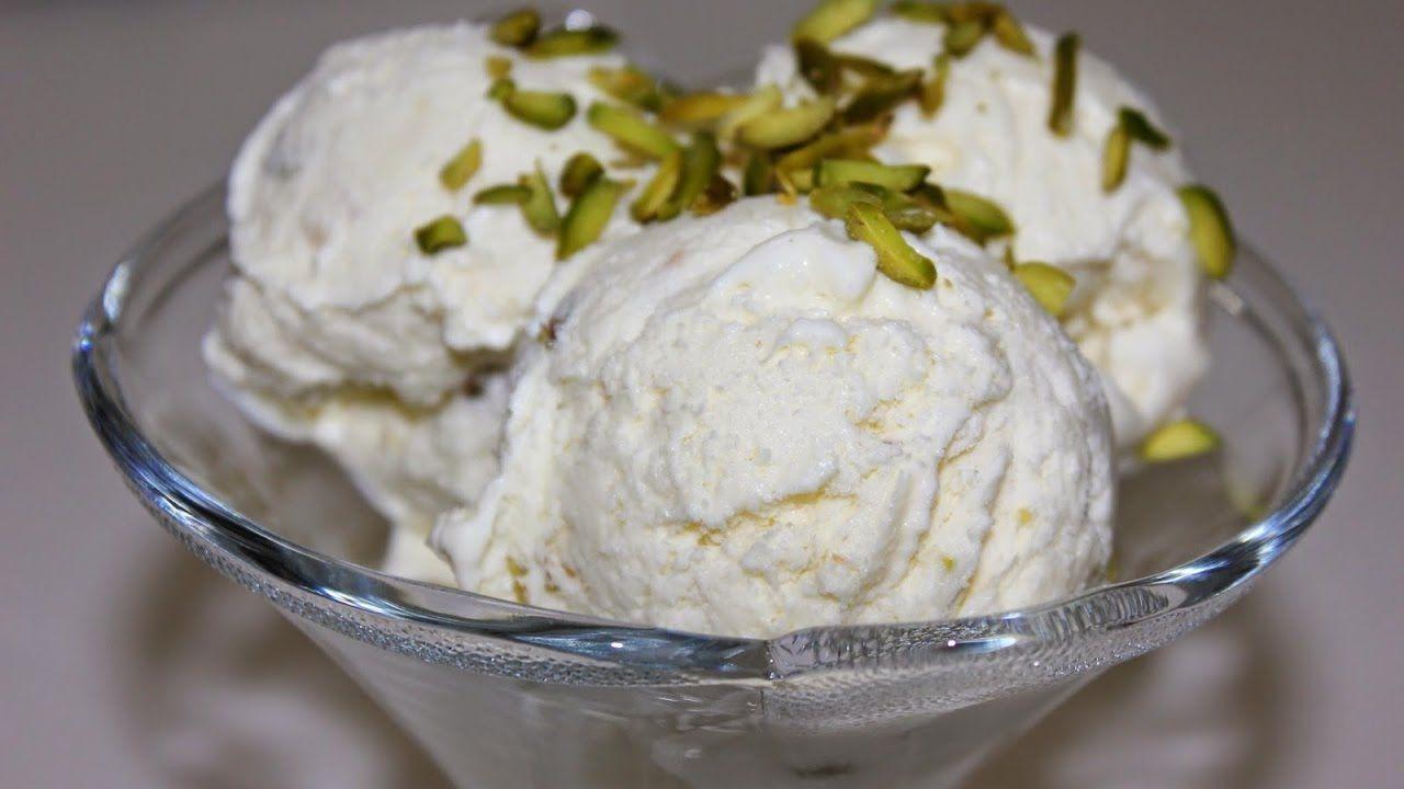 طريقة عمل الايس كريم بالمنزل اسهل طريقة لعمل البوظة في المنزل بدون ماكنة Food Cream Desserts
