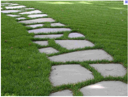Nice Concrete Stepping Stones. Concrete Garden Path.