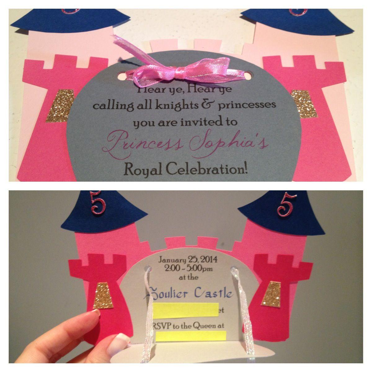 Princess Castle Invitation Made With Silhouette Cameo