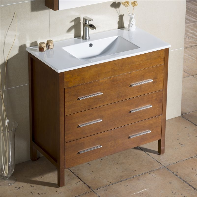 Vanity Morris 36 With Porcelain Top Capture The Best Of Modern And Transitional Style With The Morris Vanity It Bathroom Vanity Modern Bathroom Vanity Vanity