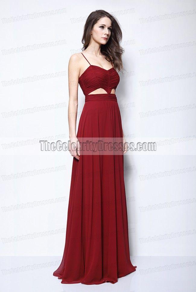 2da1c02f61b Blake Lively Burgundy Cut Out Prom Evening Dress Gossip Girl Fashion ...