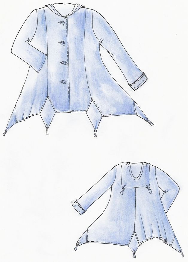 Lagenlook Einzel - Schnittmuster Jacke Marakes | Sewing | Pinterest ...