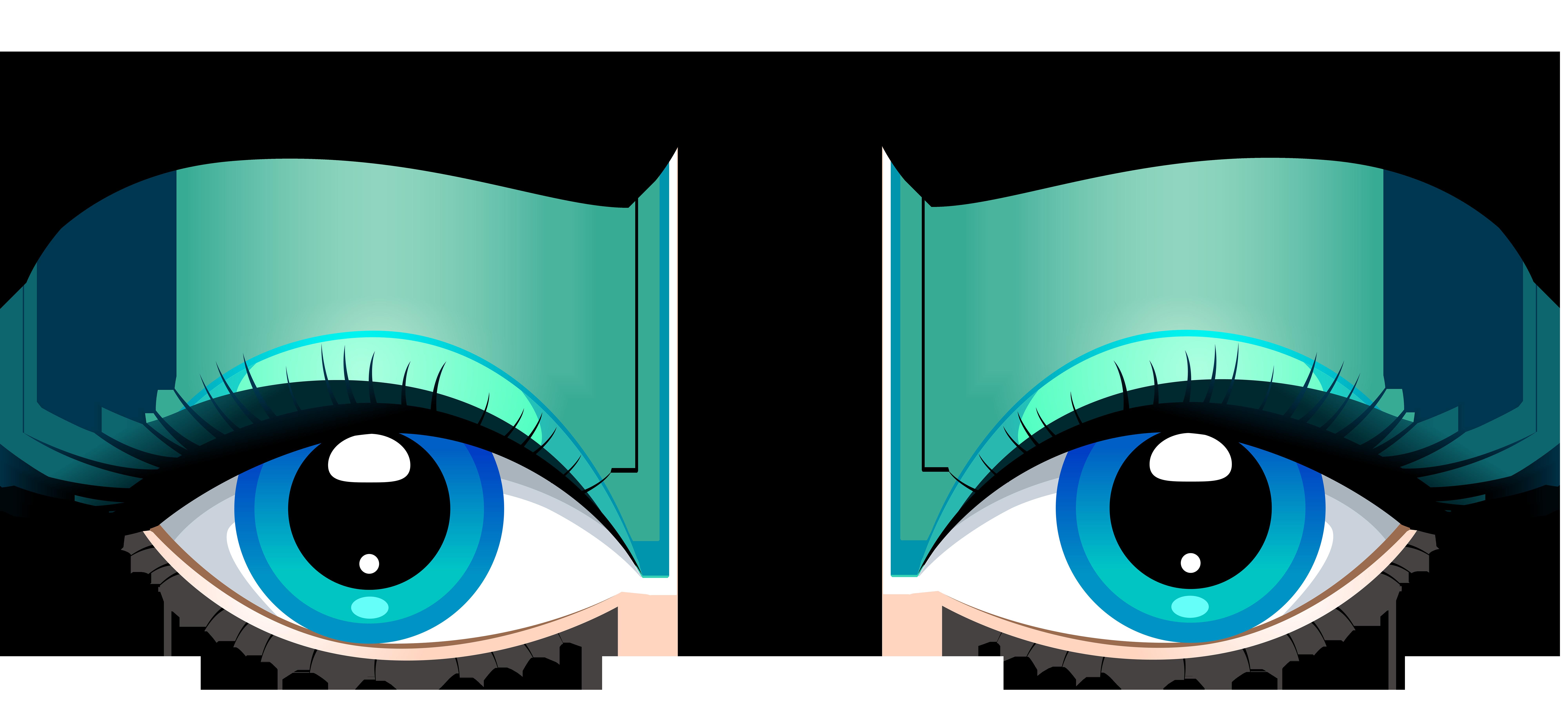 Happy Cartoon Eyes With Eyelashes download Cartoon eyes