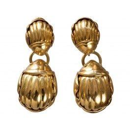 Tiffany+Scarab+Earrings,+18K