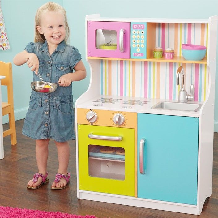 123f8c3063177 Cocinita de madera grande Bright Toddler - KidKraft. Cocinita de madera  grande Bright Toddler - KidKraft Juguetes Para Niñas