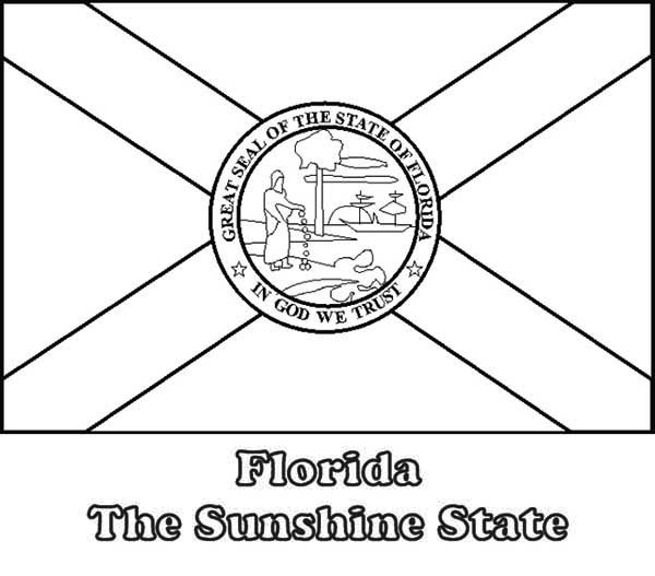 Florida State Flag Coloring Page Color Luna In 2020 Florida State Flag Flag Coloring Pages Coloring Pages Inspirational