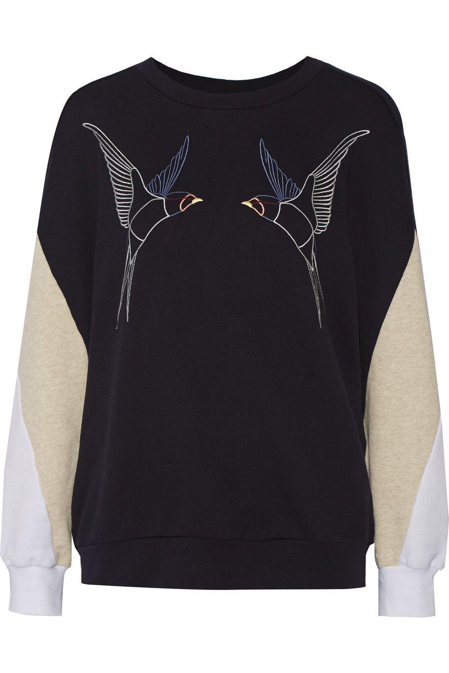 STELLA MCCARTNEY Embroidered Cotton Sweatshirt. #stellamccartney #cloth #sweatshirt