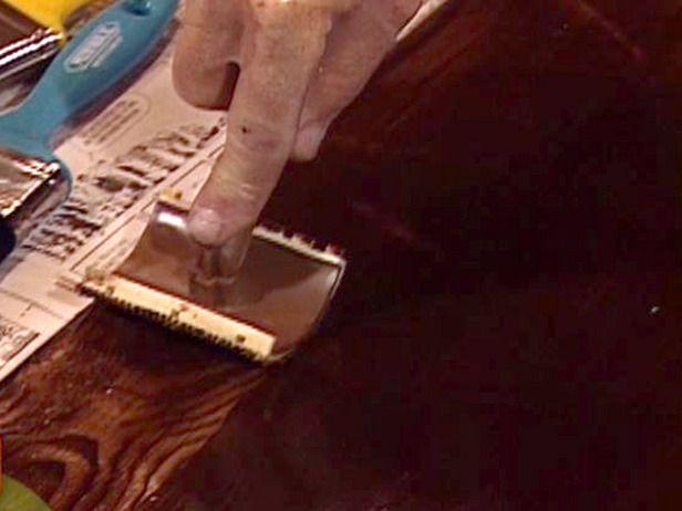 Pull Teeth Of Graining Tool Through Wet Gel Stain Metal Doors Exterior Metal Door Steel Doors Exterior