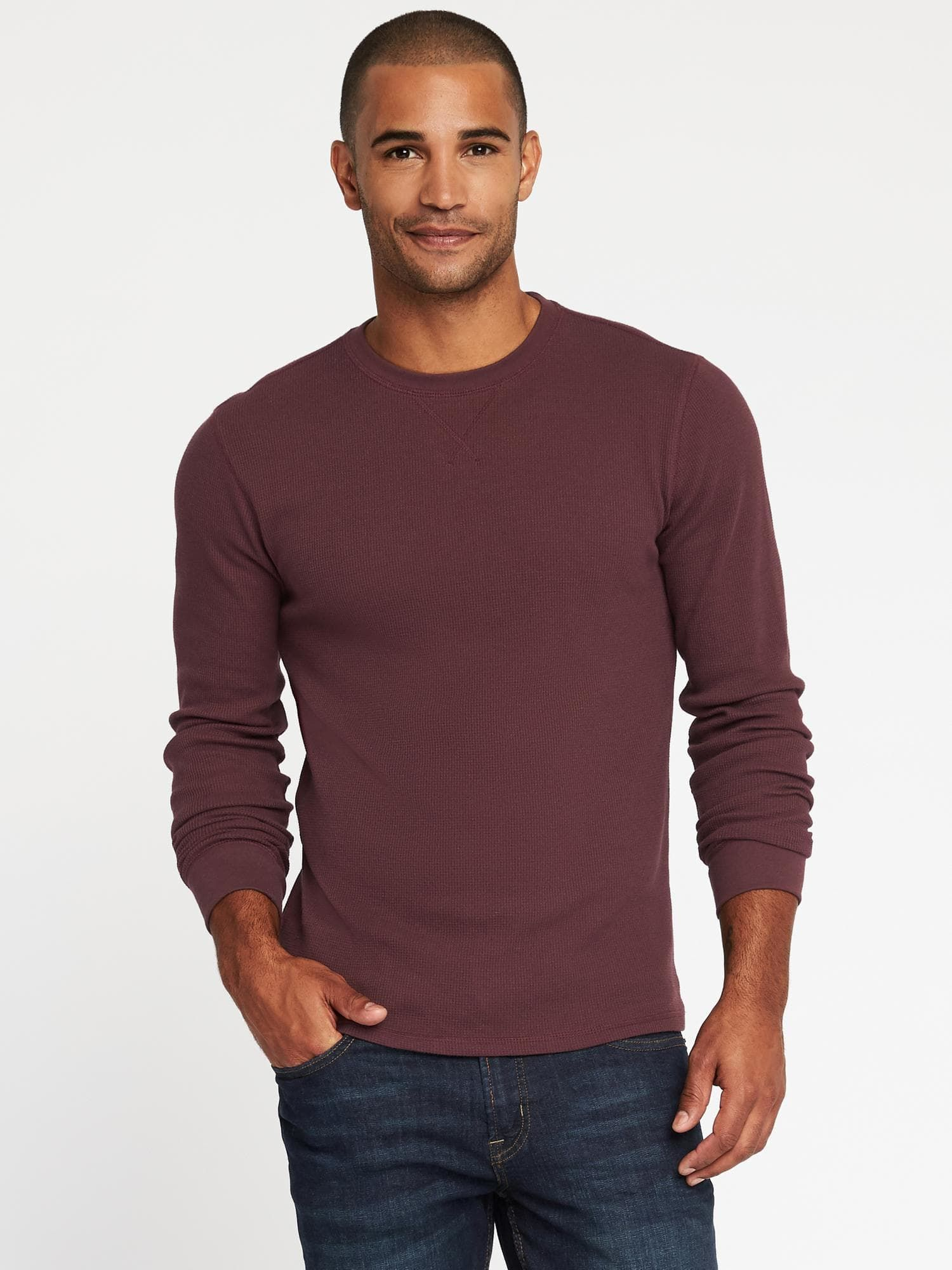 Soft-Washed Built-In Flex Thermal Tee for Men|old-navy- Large ...