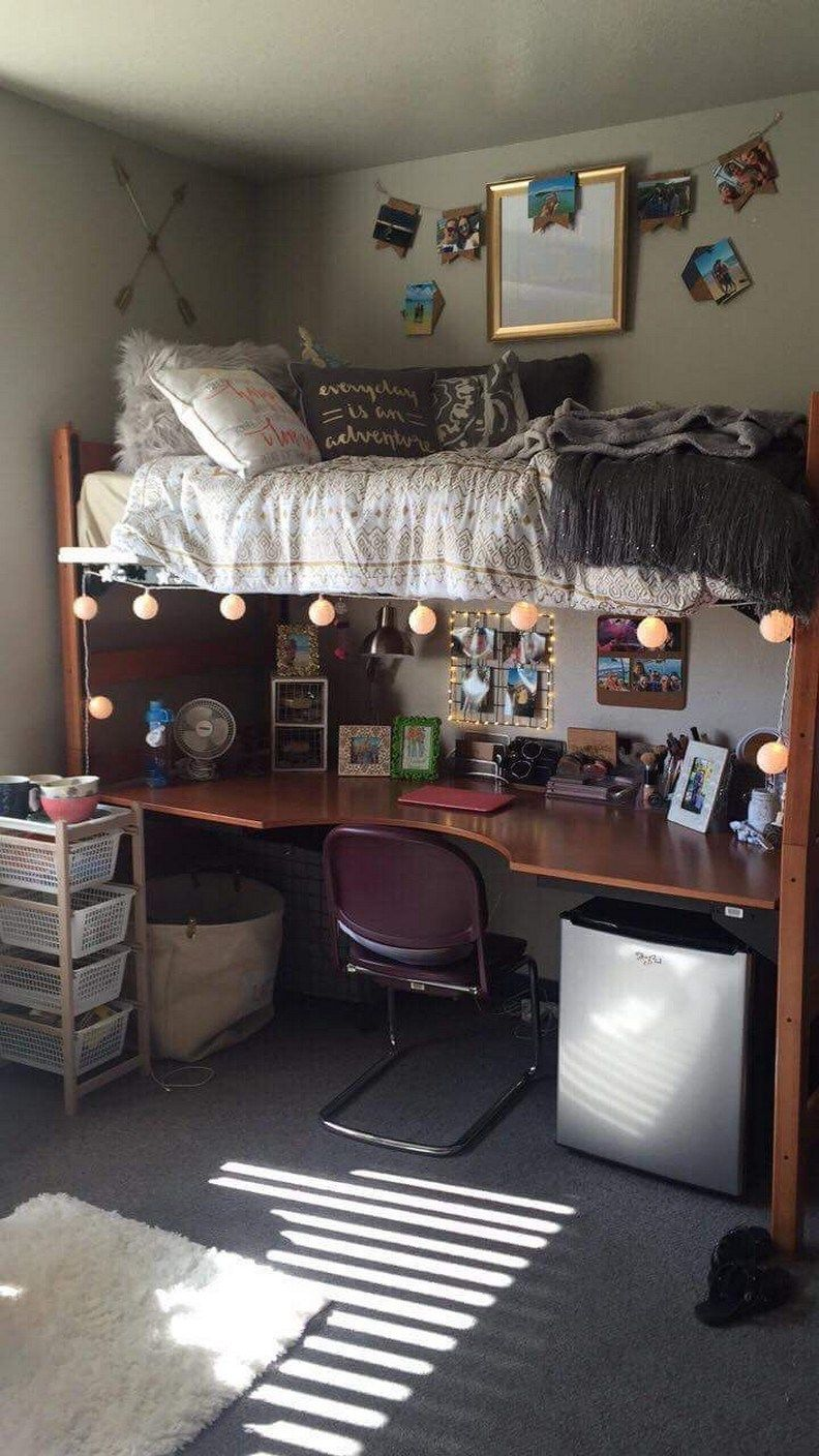 ✔ 52 lovely dorm room organization ideas on a budget 2 images