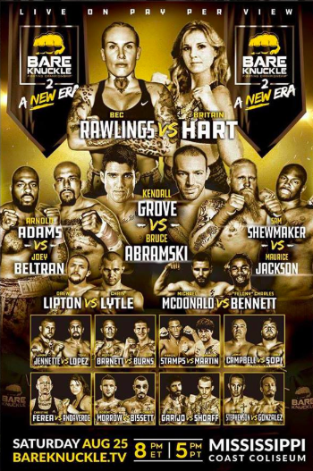 Our client Bare Knuckle Fighting Championship will make