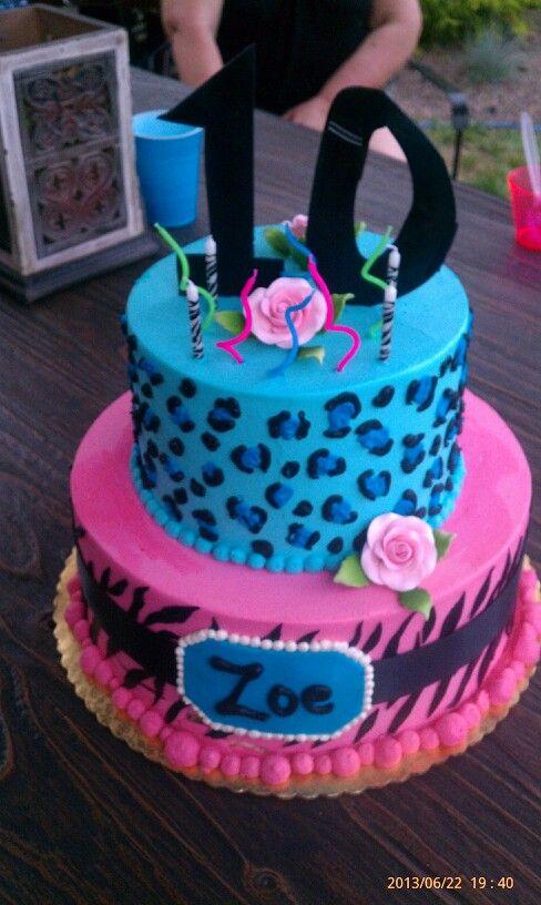 Fun Animal Print 10th Birthday Cake 10 Birthday Cake Cake
