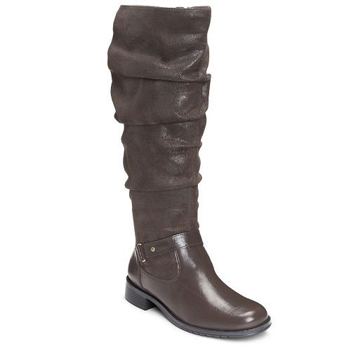 35a3ed6e7d5 Women's Mountain Sole Frida Wide Calf Slouch Boots - Charcoal ...