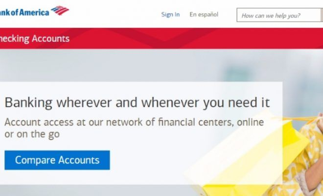 Bank Of America Personal Checking Account Checking Account Bank Of America Accounting