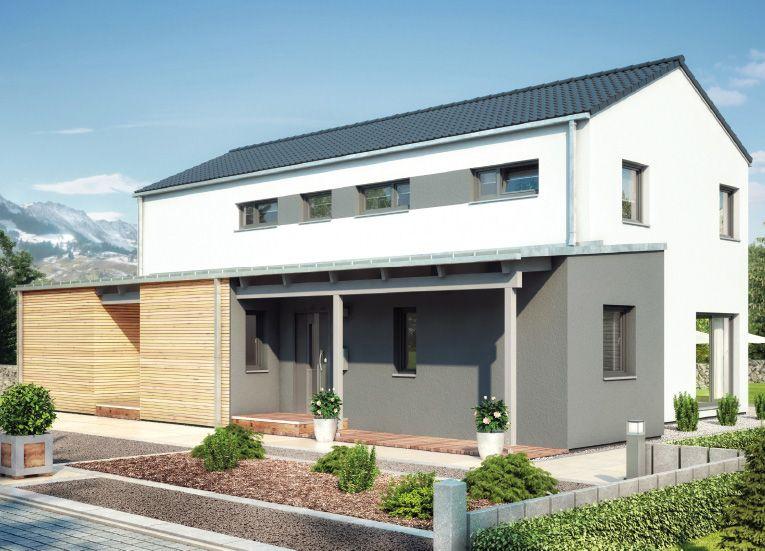 Duo 211 einfamilienhaus mit einliegerwohnung elw for Zweifamilienhaus grundriss fertighaus