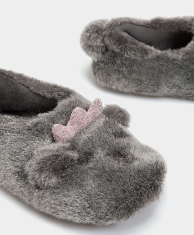 Crown mouse slippers - Slippers - SLEEP | Oysho | AW LADIES ...