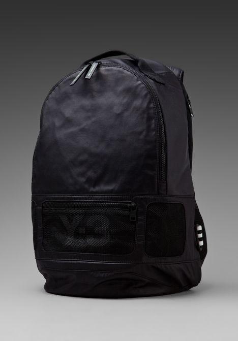 03bbc103a05 Y-3 YOHJI YAMAMOTO FS Backpack in Black Black   Travel Gear ...