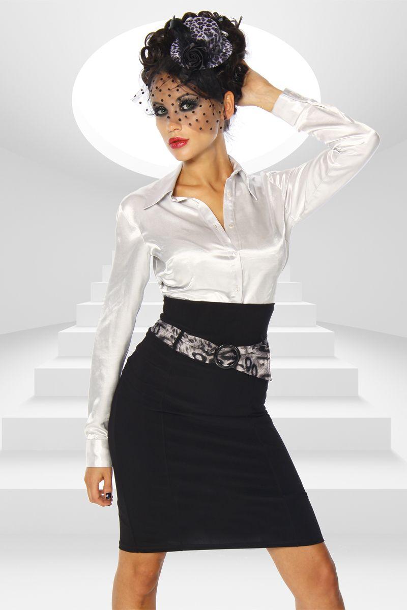 Falda Lápiz Con Cinturón