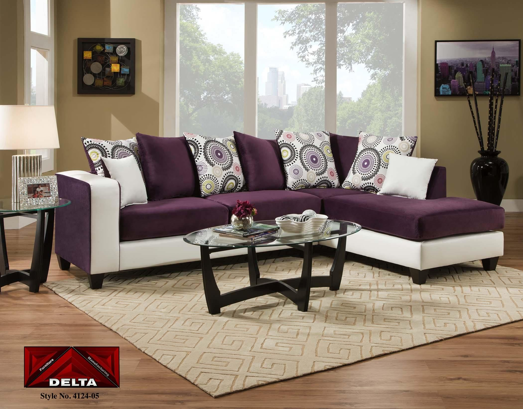 Delta 4124 Deltona Amethyst Sectional Sofa by Delta Furniture