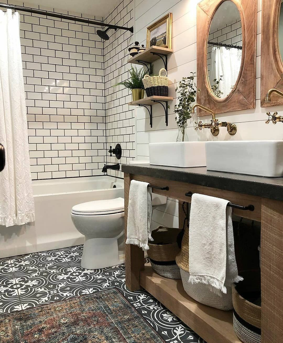 Farmhouse Charm On Instagram If You Could Snag 1 Piece From This Gorgeous Rustic Bathroom What Woul Bathroom Farmhouse Style Bathrooms Remodel Bathroom Pirate ship bathroom decor