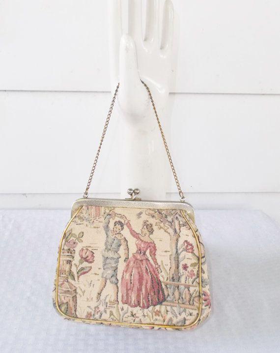 1950s Vintage Julius Resnick Medieval Tapestry by MyVintageHatShop