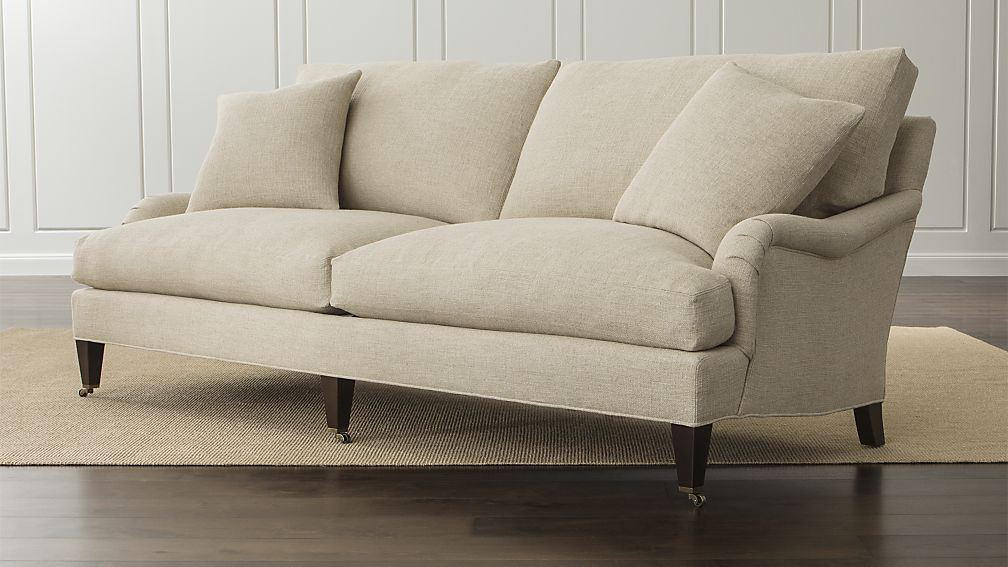Es Sofa With Casters Crate And Barrel 2199 00 89 Inches Wide