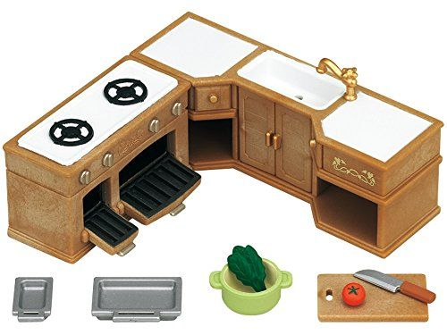 Sylvanian Families Stove Sink And Counter Kitchen Set Sy
