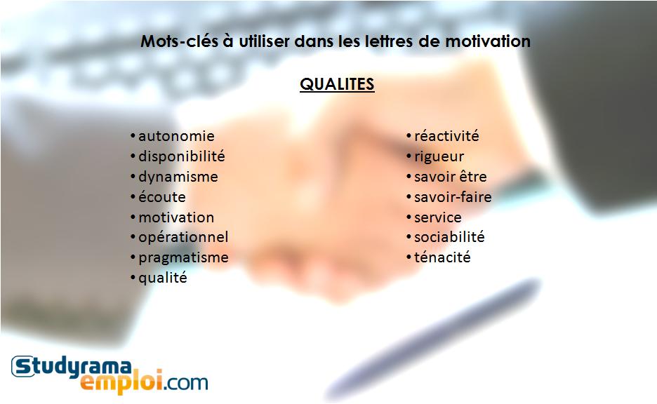 mots-cl u00e9s  u00e0 utiliser dans les lettres de motivation   qualit u00e9s