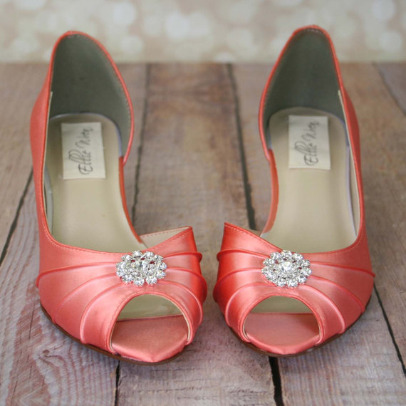Dress up your walk down the aisle with these lovely dorsay peep toe