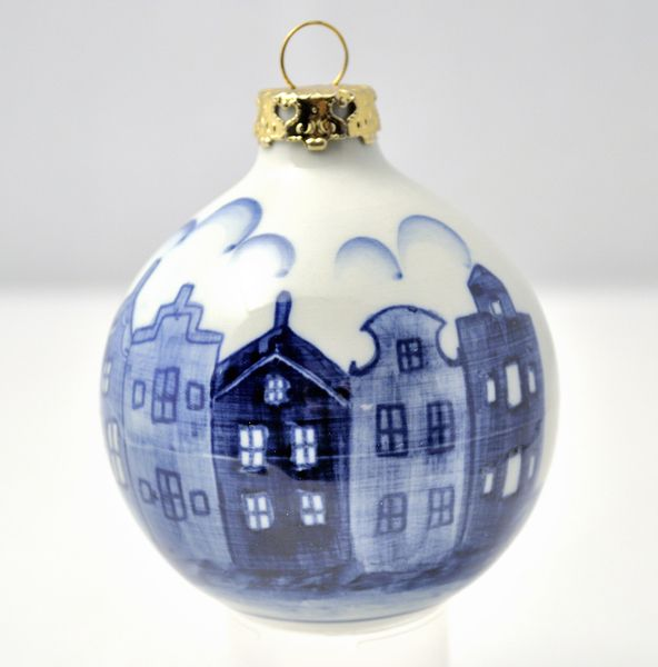 Delf Blue Christmas Ball Blue Christmas Ornaments Blue And White China Blue Christmas
