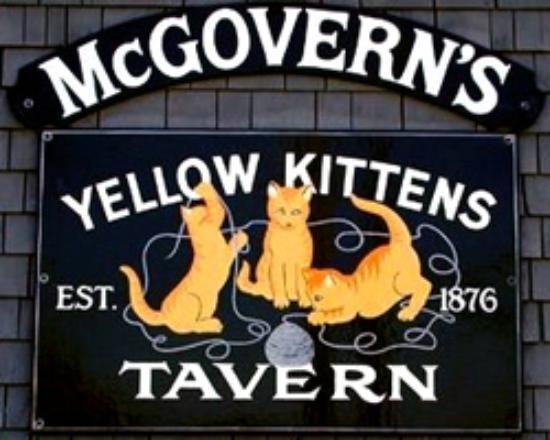 Mcgoverns Yellow Kittens Block Islands Oldest Tavern Block Island Block Island Rhode Island Rhode Island History