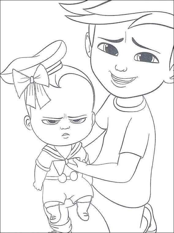 Boss Baby Coloring Pages 7