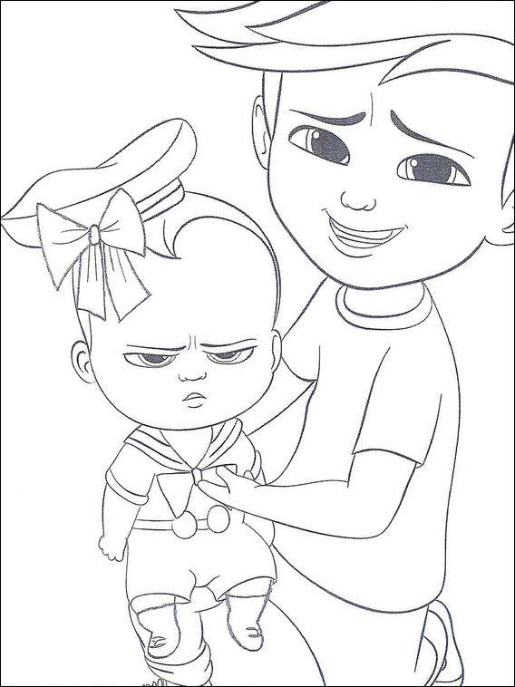 Boss Baby Coloring Pages 7 Dibujos Colorear Para Niños Y