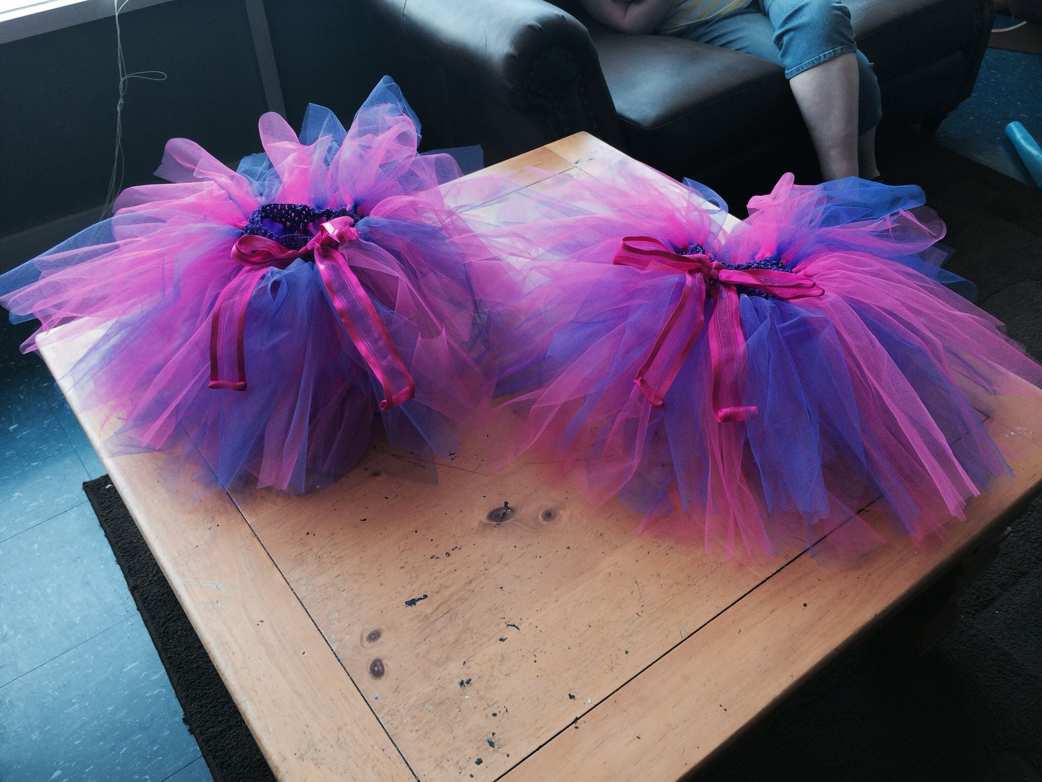 Twin girl tutus! Picked pink & purple of course!