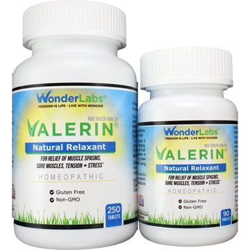 Valerin All Natural Relaxant 2 Bottle Pack Qty 340 Total Tablets Item 6062 Wonderlabs Vitamins Minerals And Supplements Thyroid Problems Thyroid Healthy Thyroid