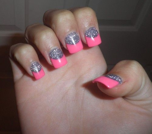 Blue Prom Nails French Tip: Blue Glitter Tip Acrylic Nails - Google Search