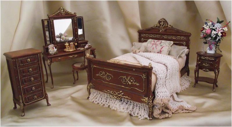Miniature Dollhouse Bedroom Set The Anastasia 450 00 Dollhouse