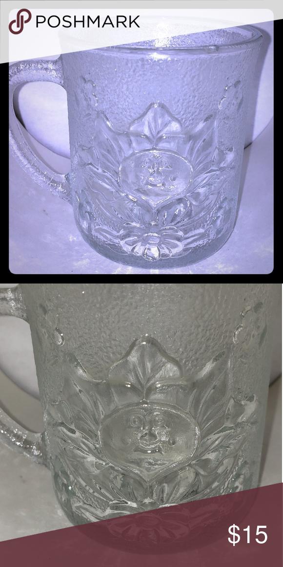 Vintage 1984 Cabbage Patch Kids Mug Cup Clear Glas Cabbage Patch Kids Patch Kids Mug Cup