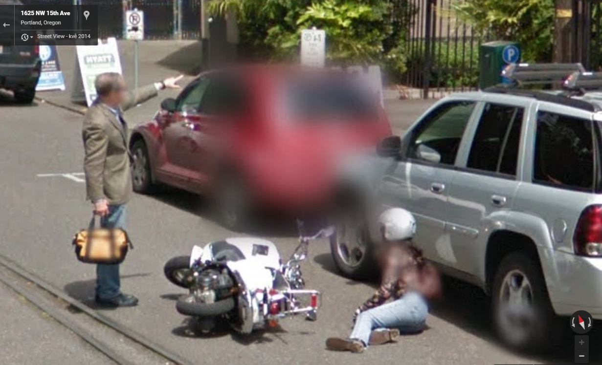 Google street view captures a scooter mishap funny and interesting google street view captures a scooter mishap gumiabroncs Choice Image