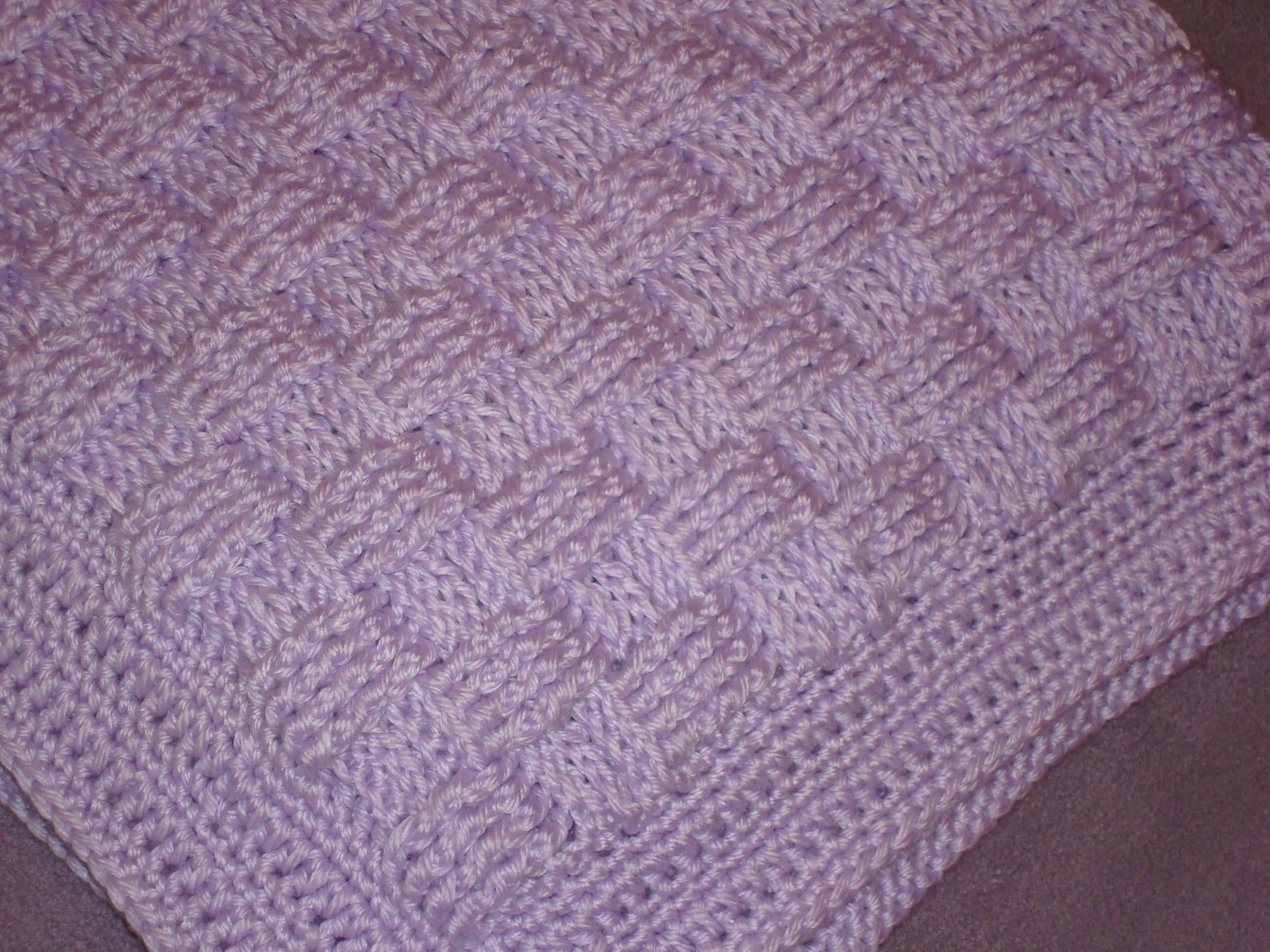 Cousin Crystal\'s Crocheted Basket Weave Baby Blanket | Yarn Over ...