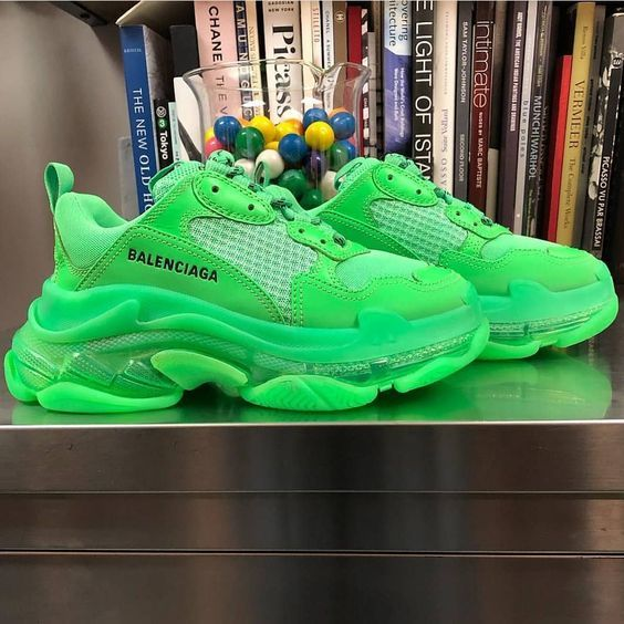 Your size Balenciaga Triple S Trainers Neon Green shoes