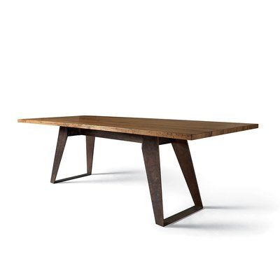 Yumanmod Benjamin Solid Wood Dining Table Size 30 H X 102 W X