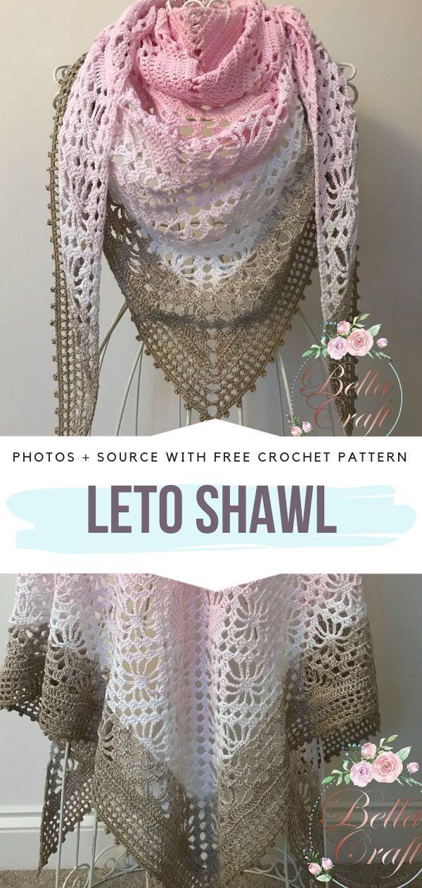 Beautiful Airy Shawls Free Crochet Patterns