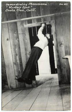 """Mystery Spot"" Santa Cruz, ca 1950, Zan Stark, photographer"