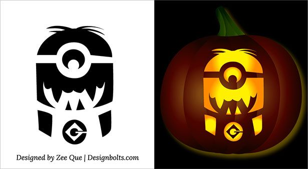 5 free best halloween minion pumpkin carving stencils, patternsfree printable halloween minion pumpkin carving stencils patterns ideas templates 01