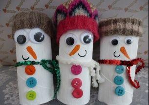 Christmas Crafts Toilet Roll Snowmen Diy Deco Noel Rouleau Papier Toilette Et Papier Toilette