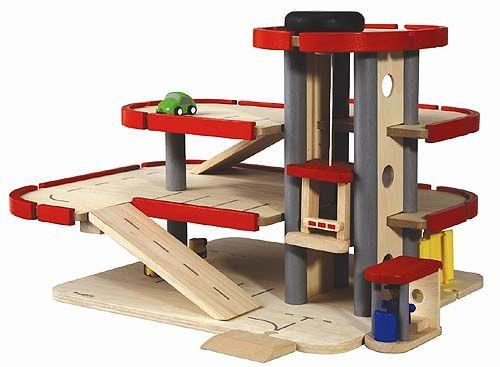 Houten Garage Janod : Houten garages & autos de tovertuin houten speelgoed garage