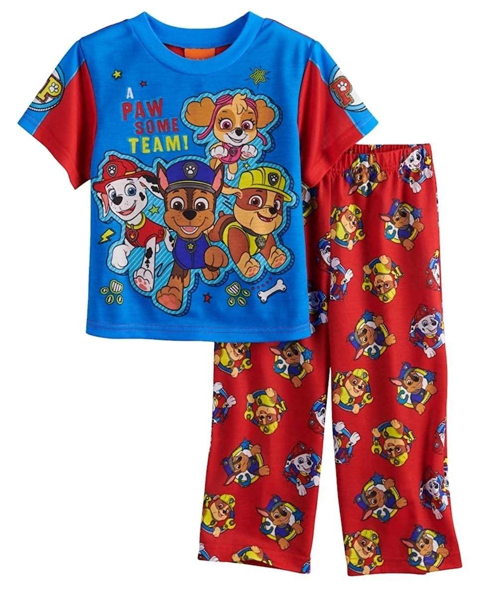 PAW PATROL Boys Chase Marshall and Rubble Pajamas